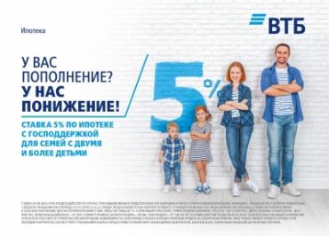 """Ипотека 5% от банка """"ВТБ"""""""